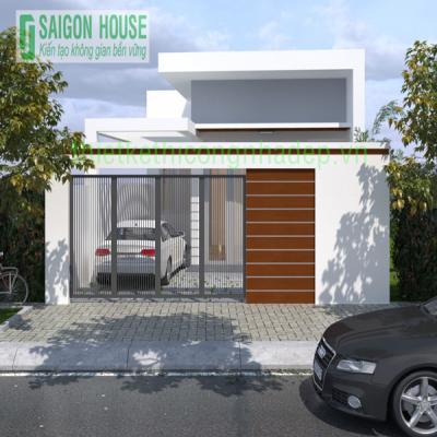 Thiết kế xây dựng nhà phố cấp 4 hiện đại ở Hóc Môn