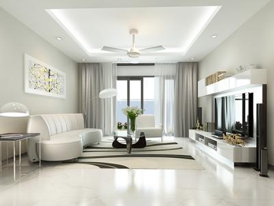30 Mẫu phòng khách với màu trắng tinh khôi