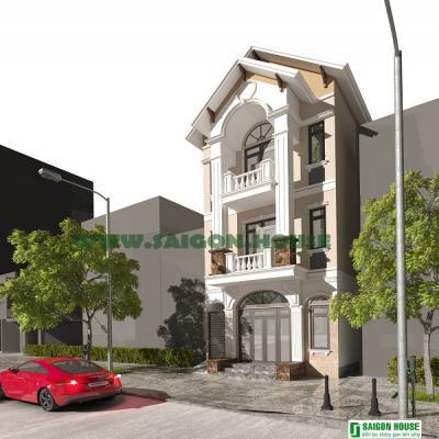 Thiết kế & thi công biệt thự phố 3 tầng Dĩ An, Bình Dương
