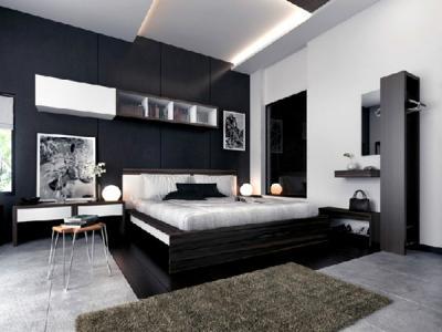 20 mẫu phòng ngủ lãng mạn với sắc đen