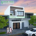 Thiết kế & thi công nhà phố hiện đại 2 tầng ở Biên Hòa, Đồng Nai