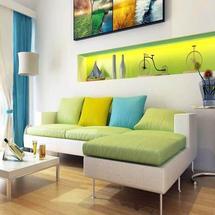 Phòng khách mang sắc màu thiên nhiên
